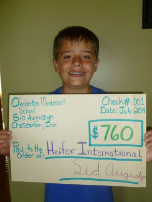 Augustyn raises funds for Heifer International