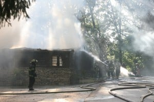 Fire engulfs florist's workshop at Meyer's Castle