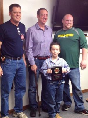 LaPorte County boy honored for saving dad