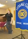 Amber Alexander addresses Portage Exchange Club