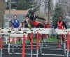 T.F. South's Jareyl Stone competes in the 100-meter hurdles at Saturday's T.F. South Invitational.