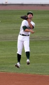 RailCats second baseman Nick Liles