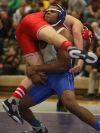 Lake Central's Gelen Robinson; Crown Point's Steven Potosky