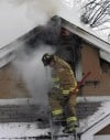 Firefighters battle morning blaze
