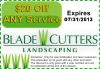 $20 Landscaping Service Coupon