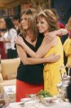 "Jennifer Aniston and Marlo Thomas on the set of ""Friends"" in 2002."