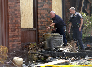 Investigators searching for clues to Highland apartment fire