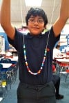 Franklin Academy celebrates Pi Day by making necklaces
