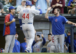 Rizzo homers, Cubs finish by beating Brewers