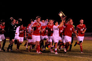 Crown Point boys soccer advances to Thursday's Merrillville Regional