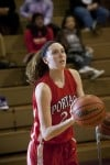 Portage's Monahan wins the girls rumble 3-point shootout