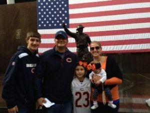 Hobart girl honored at Bears game