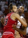 Bulls Heat Basketball