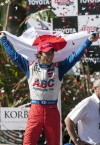 Sato 1st Japanese driver to win an IndyCar race