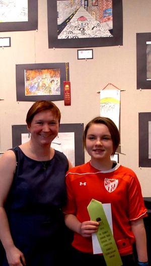 Middle school artists earn honors at annual exhibition