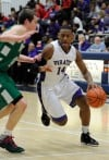 Merrillville's Jalen Wilbert drives against Valparaiso on Saturday night.