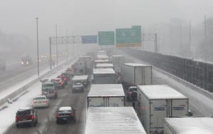 Roads improving after slow, slippery morning commute