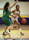 St. Francis De Sales' Brianta McMorris drives past