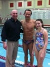 Olympic gold medalist Brandon Hansen conducts clinic for Crown Point Swim Club