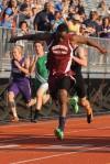 Bowman senior runner Cornelius Strickland