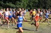 Area girls cross country rush out at the start of the race Saturday morning at the Bob Thomas Invitational at Lowell.
