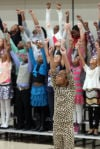Fourth-graders put on a concert about character building