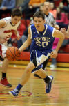 Boone Grove's Kyle Kaminski drives to the basket against Washington Township on Thursday at the Porter County Conference tourney.