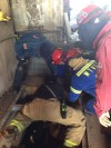 Man extricated from equipment