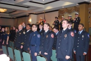Firefighters celebrate graduation