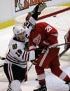 Banged-up Blackhawks and Red Wings meet in Game 5