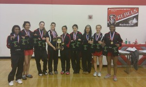 Three-peat for T.F. South badminton team
