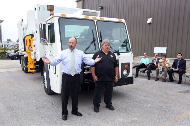 Hobart unveils county's first CNG-fueled garbage truck