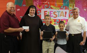 Knights of Columbus helps fund NEW iPad Lab at St. John the Evangelist School