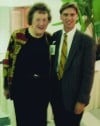 Julia Child with Times Columnist Philip Potempa in October 1993