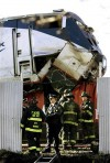 Amtrak train collides with freight train