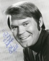 Glen Campbell Autographed 1970 Publicity Photo Signed to Columnist Philip Potempa