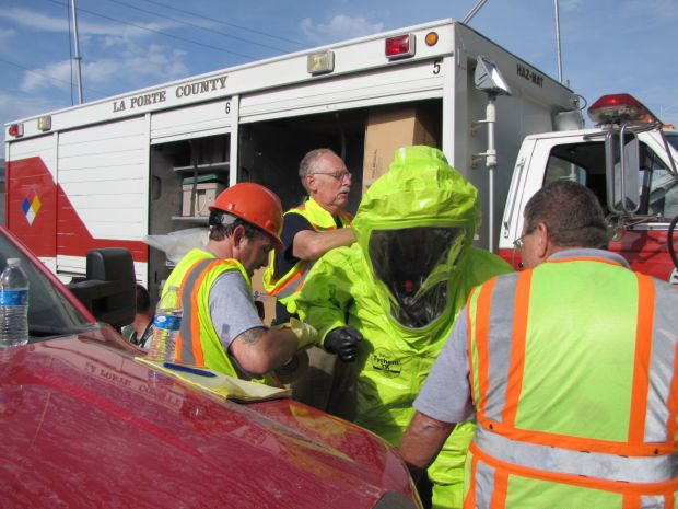 LaPorte officials stage mock disaster in downtown area