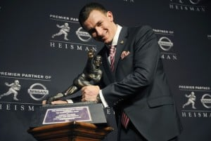Manziel is first freshman Heisman winner; Te'o runner-up