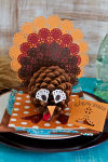 Crafts let everyone participate in the Thanksgiving day table