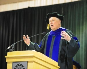 Quinn uses commencement speech to tout ammunition magazine restrictions
