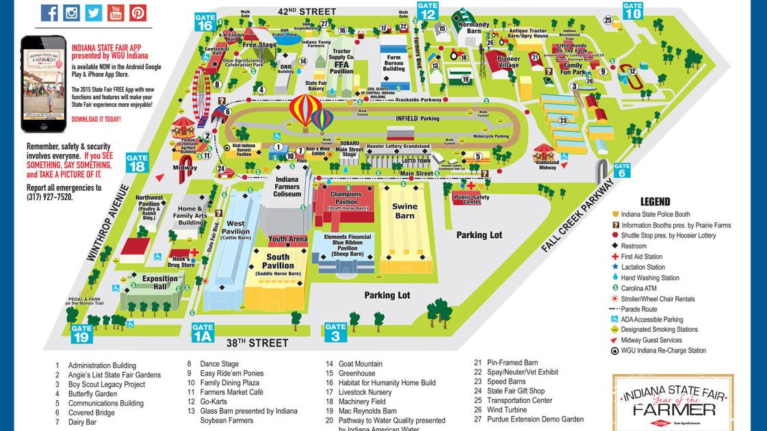 31 brilliant Indiana State Fair Map – bnhspine.com