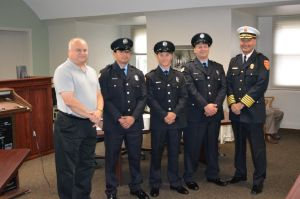 Whiting welcomes new firefighters