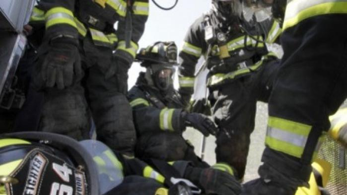 Firefighters emergency crews drill for train collision for Laporte county state of emergency