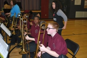District 158 beginning band performs for friends, family