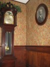 Framed Portrait of John H. Barker and Staircase Wallpaper at Barker Mansion