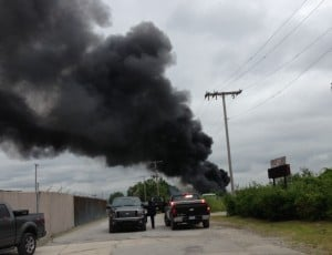 Fire tears through Hammond trucking company