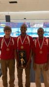 T.F. South bowling trio
