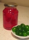 Red and Green Maraschino Cherries