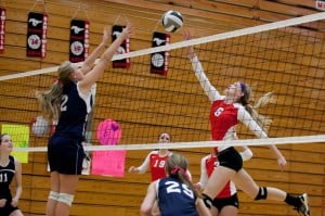 Mustangs' versatility, power down Calumet Christian in volleyball