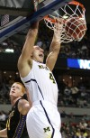 Michigan freshman and Chesterton native Mitch McGary dunks